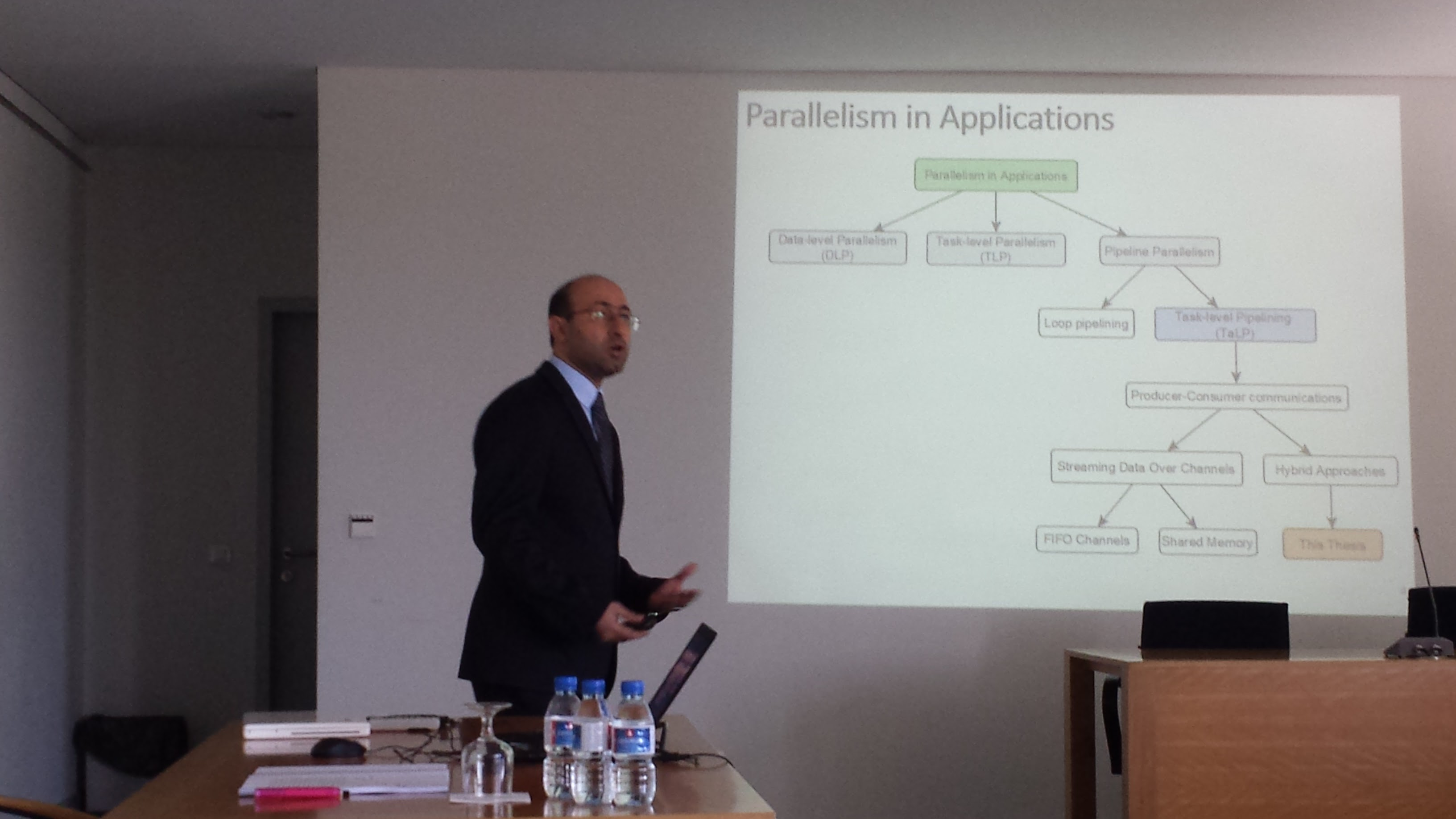 Ali presenting his PhD work
